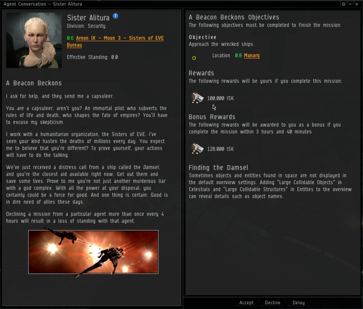 """""""EVE Online"""" Sisters Epic Arc Guide: """"Quality of Mercy"""" The Blood-Stained Stars Chapter 1"""