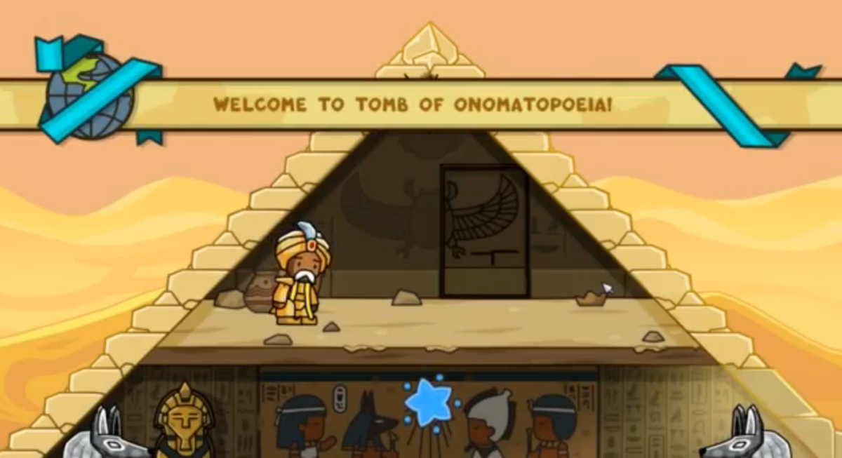 Scribblenauts Unlimited walkthrough: Tomb of Onomatopoeia and Abjad Dunes