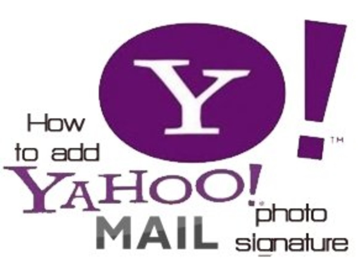Adding image Signature in Yahoo Mail