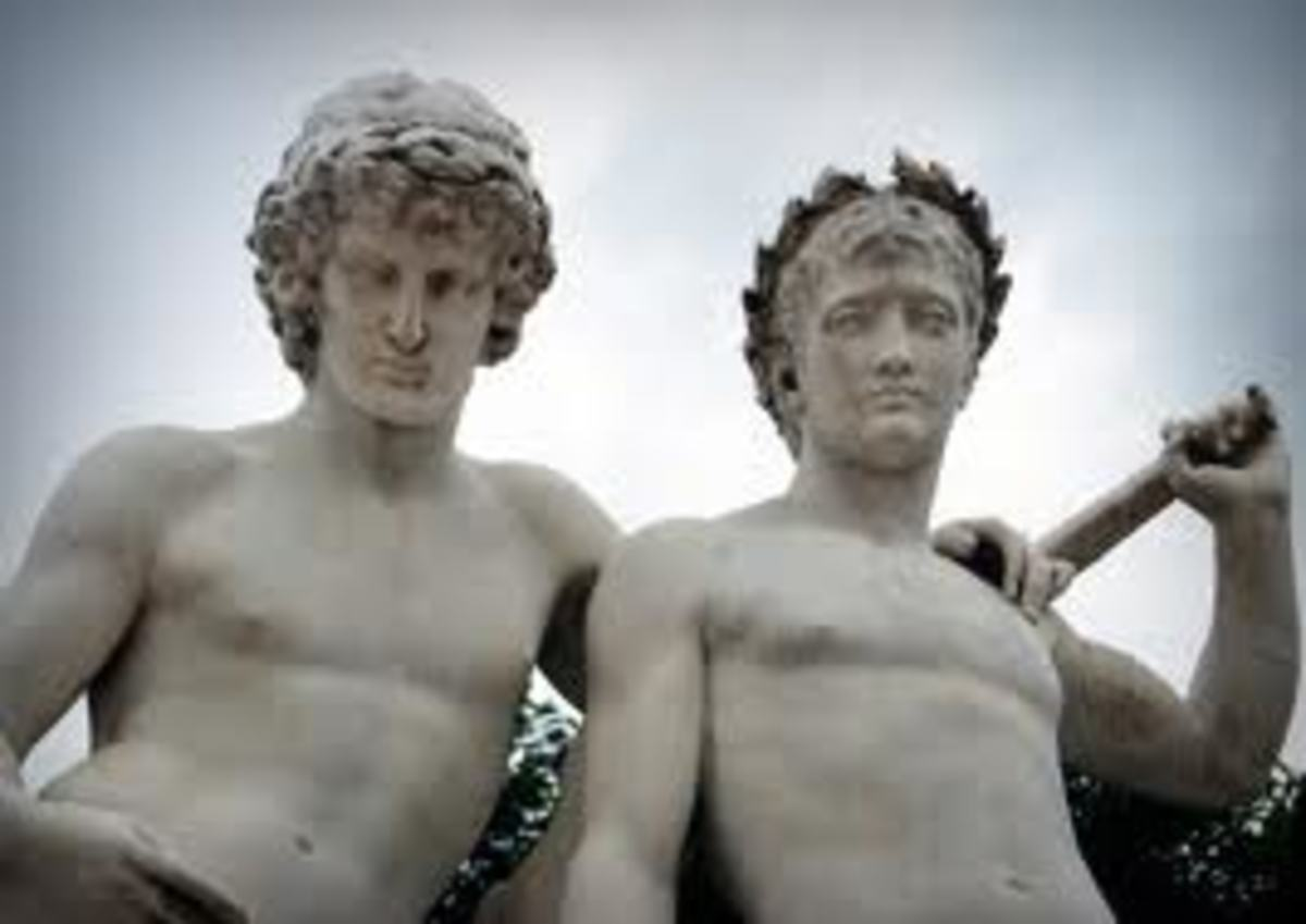 CASTOR AND POLLOX - GREEK GODS OF GEMINI