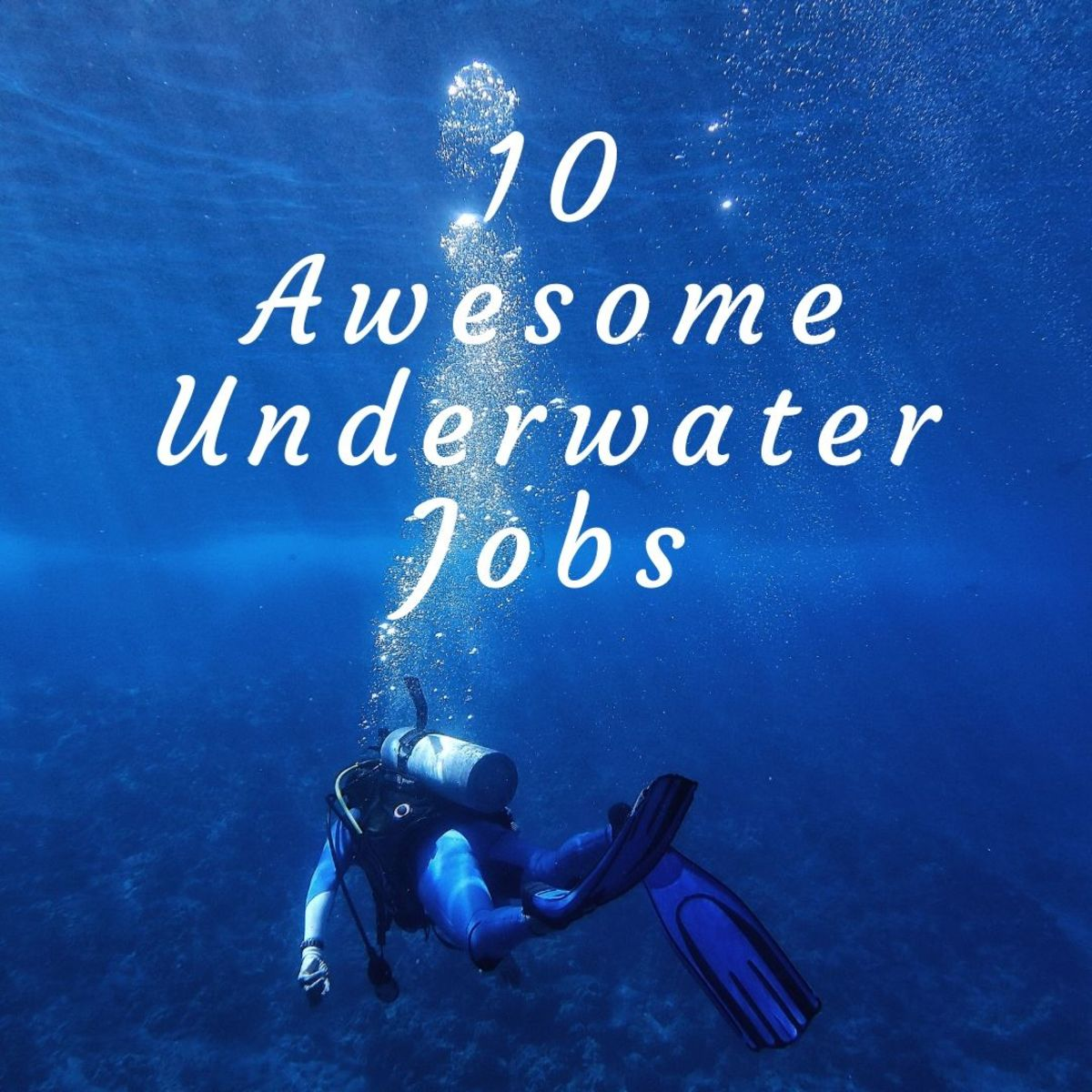 Here are the top 10 amazing jobs you can do underwater!