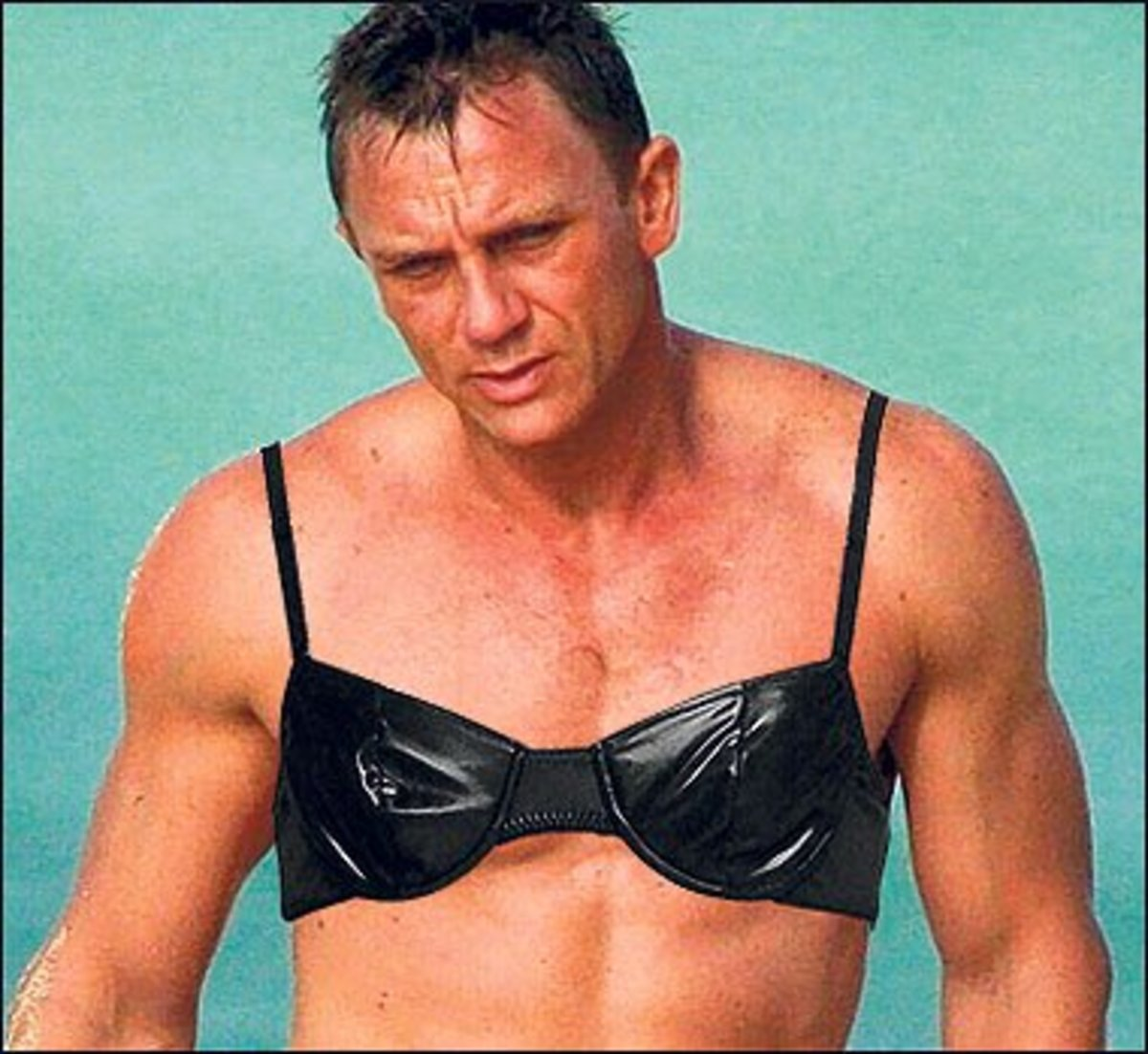 leave james bond because he occasionally wears a bra methinks not