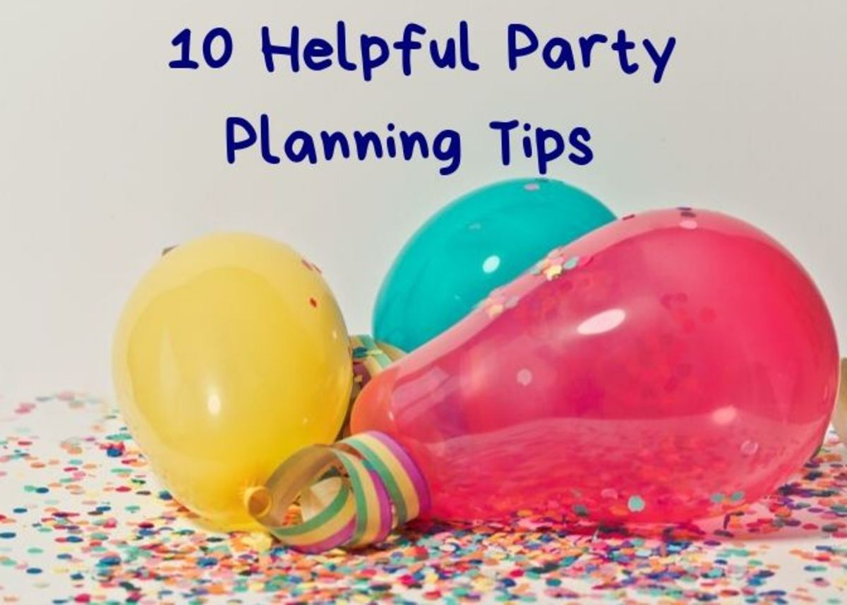 If you're serious about your party, it's a good idea to plan things ahead of time.