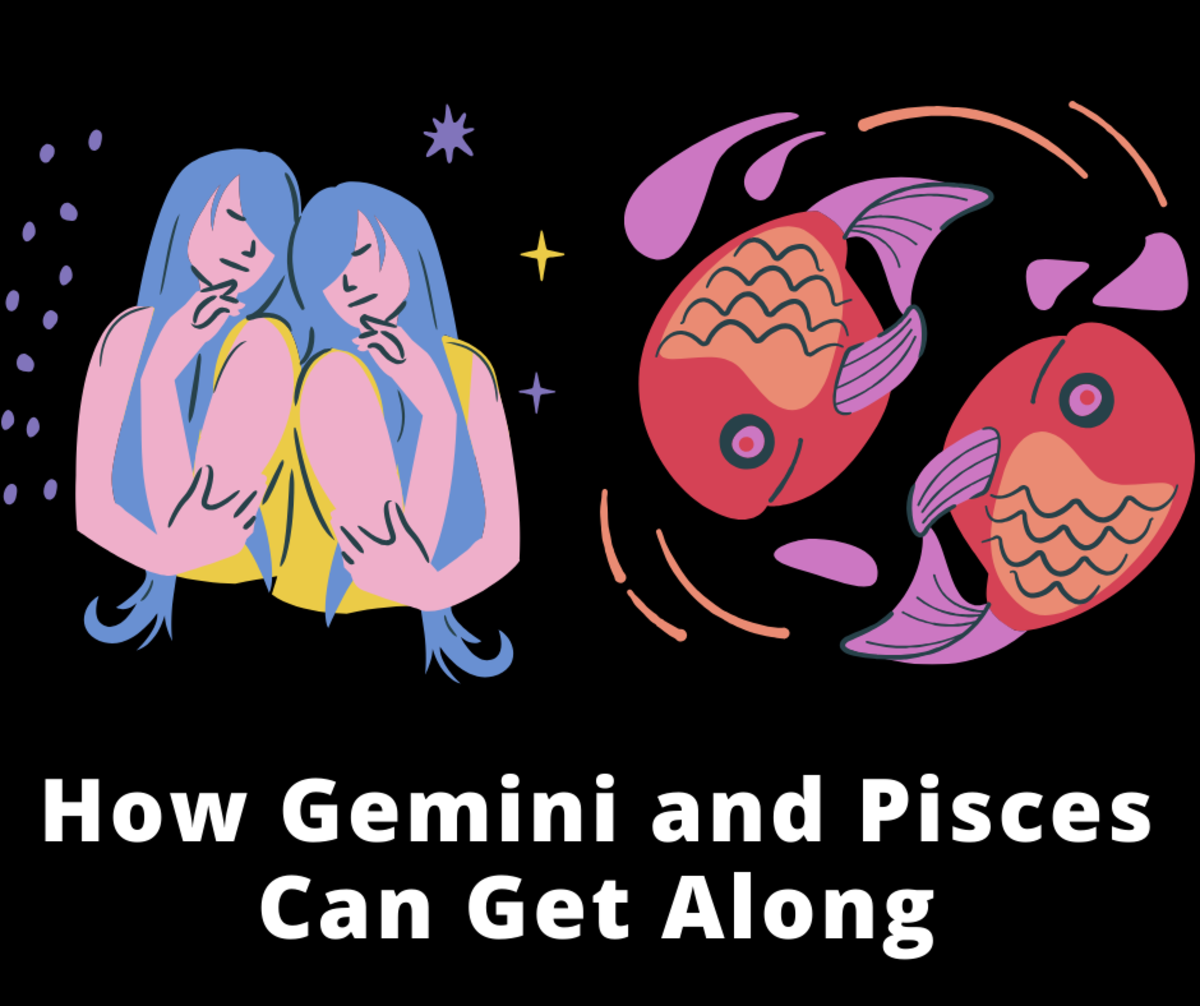 Read on to learn how Gemini and Pisces, the twin and the fish, can get along.