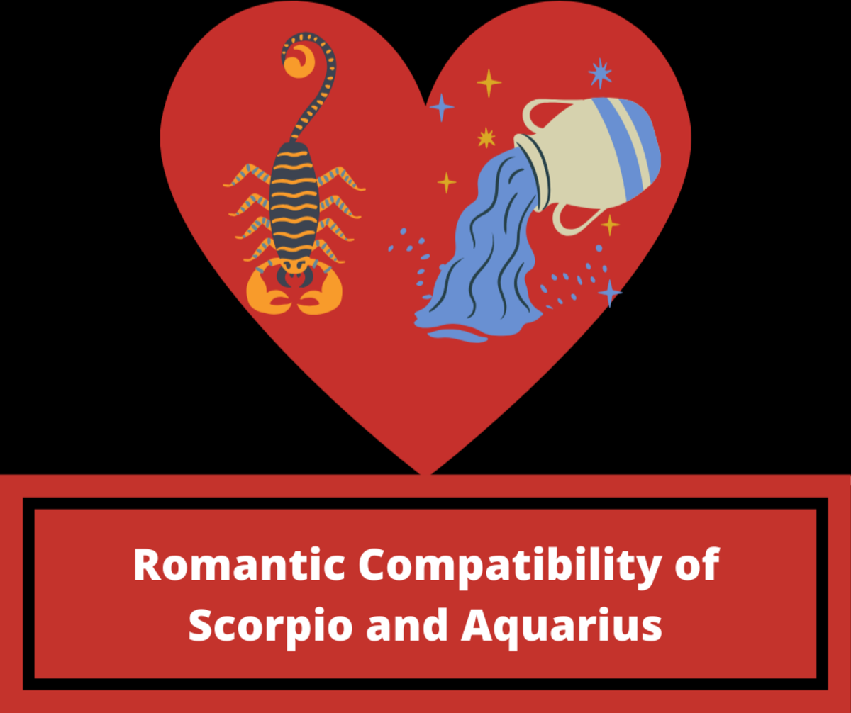 Read on learn about the romantic compatibility of Scorpio and Aquarius.