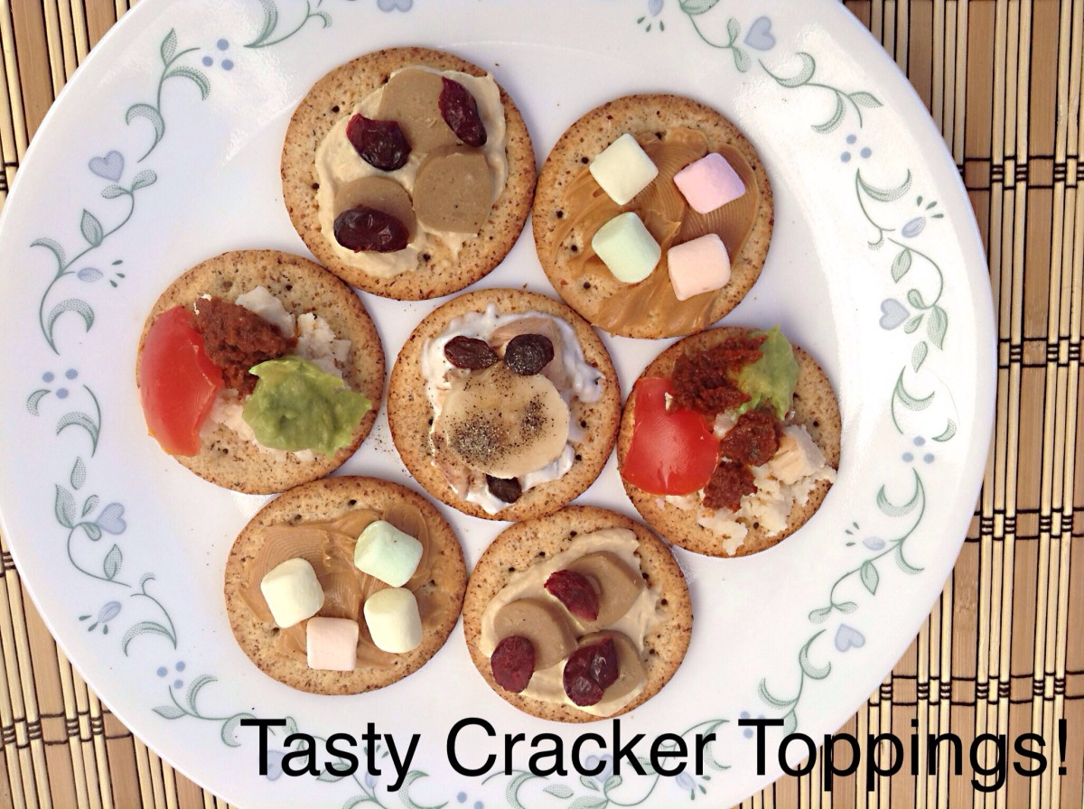 Toppings for crackers are easy to make.