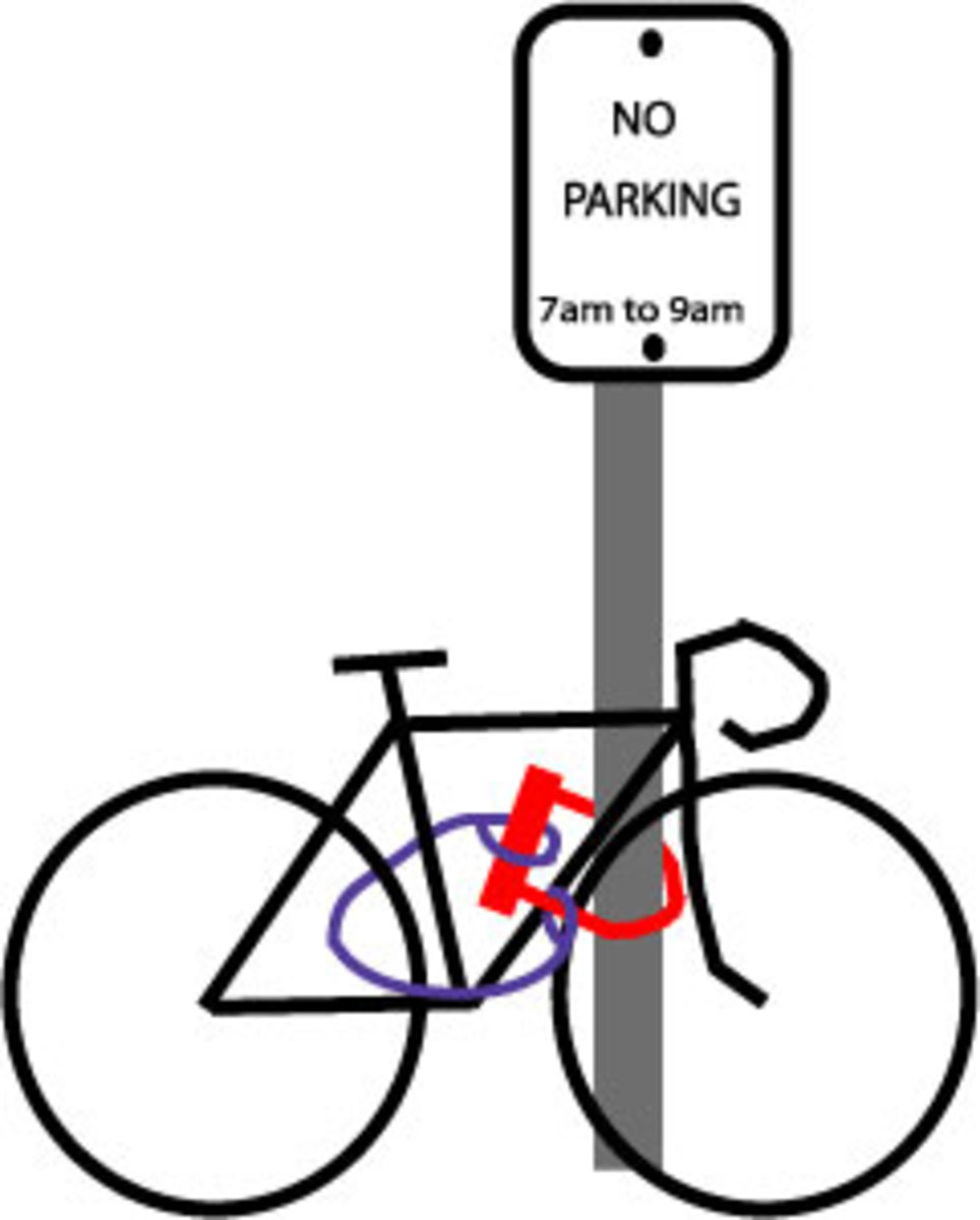 One correct way to lock a bike.