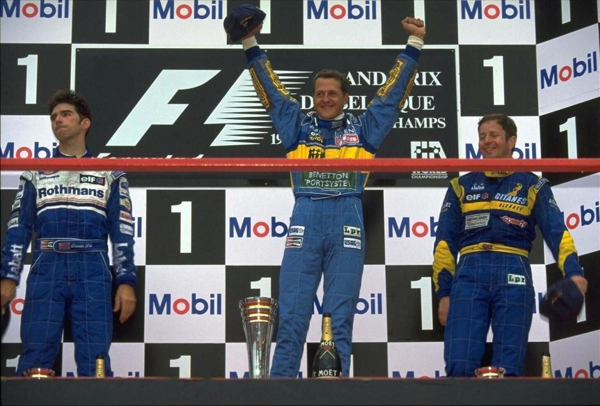 The 1995 Belgian GP: Michael Schumacher's 16th Career Win
