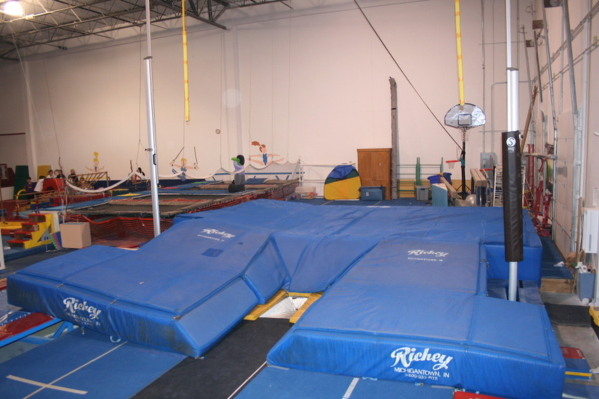 This is an example of what a bar and pit will look like. These are used for the actual vault.