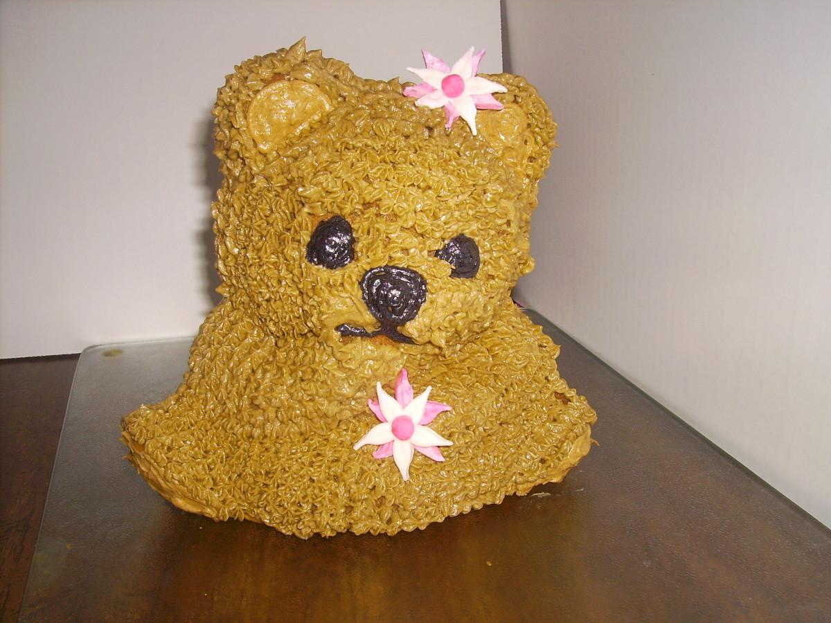 How to Make a 3D Bear Cake