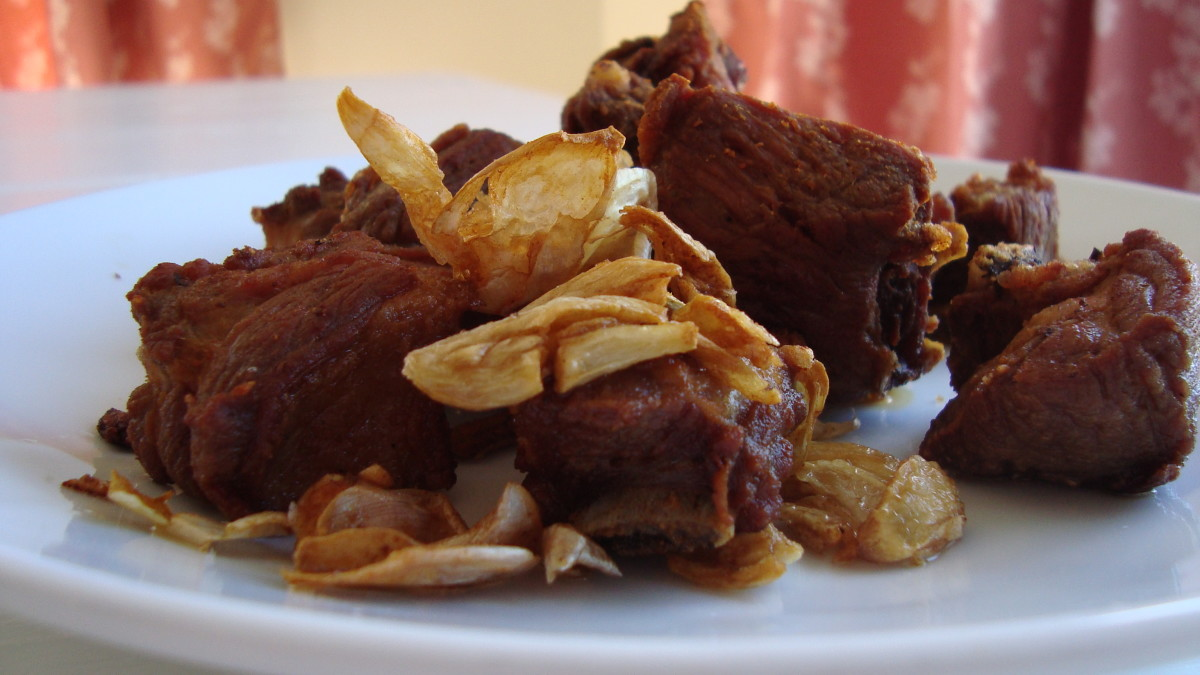 Thai deep fried garlic ribs recipe delishably for Ably asian cuisine