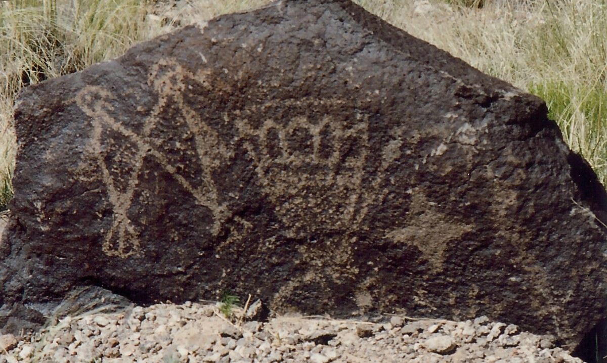 Petroglyphs found at Petroglyph National Monument in Albuquerque, New Mexico