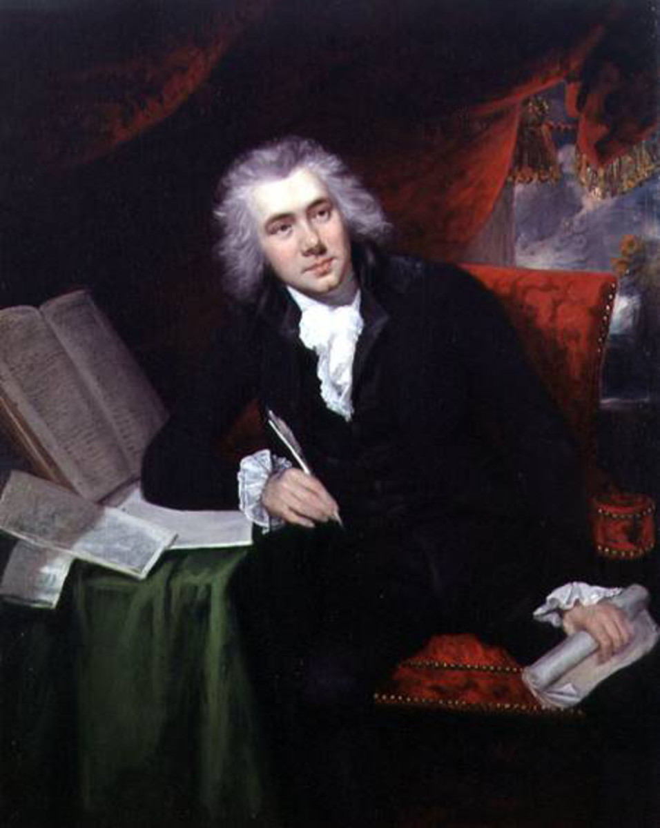 "Wilberforce at age 29. When he was about 28 he penned, ""God Almighty has set before me two great objects, the suppression of the Slave Trade and the Reformation of Manners."""