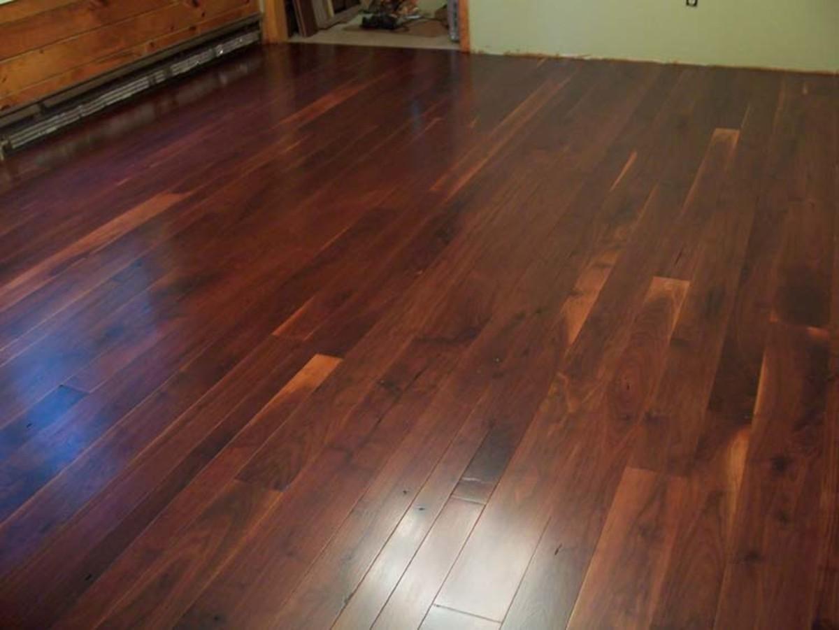 Hardwood floor.