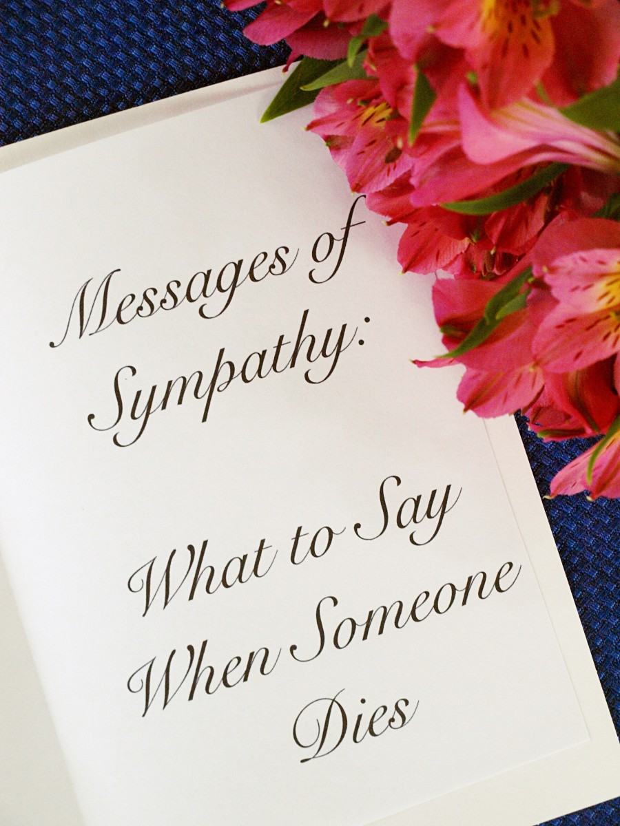Messages Of Sympathy What To Say When Someones Holidappy