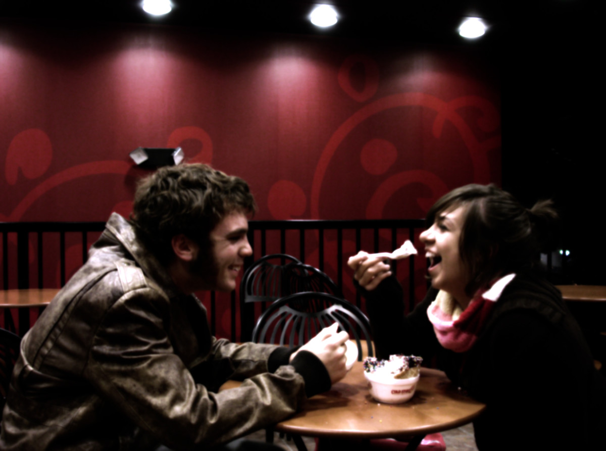 There's nothing better than the chemistry of good conversation on a first date to ease the nerves.  Photo by Tombre from www.sxc.hu