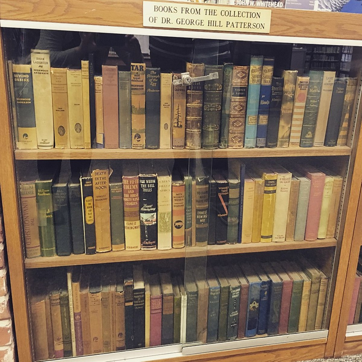 A variety of first edition books. Located at Lucy Hill Patterson Memorial Library in Rockdale, Texas. Note the different conditions of the books.