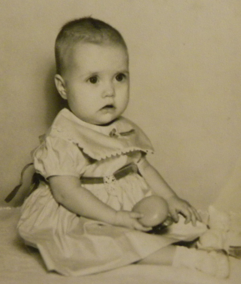 The author as a baby.