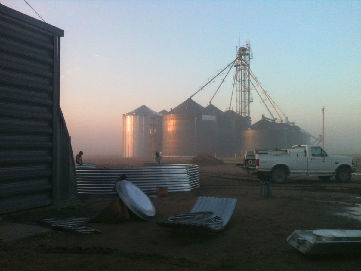 Bins at sunrise are among my favorite views. My husband and I built or worked on most of this cluster, and many others.