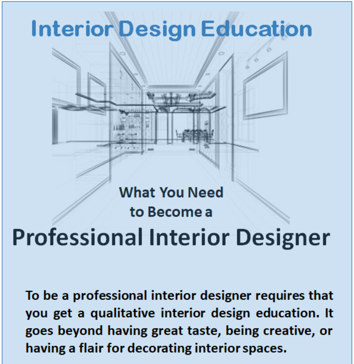 Education You'll Need to Learn Interior Design