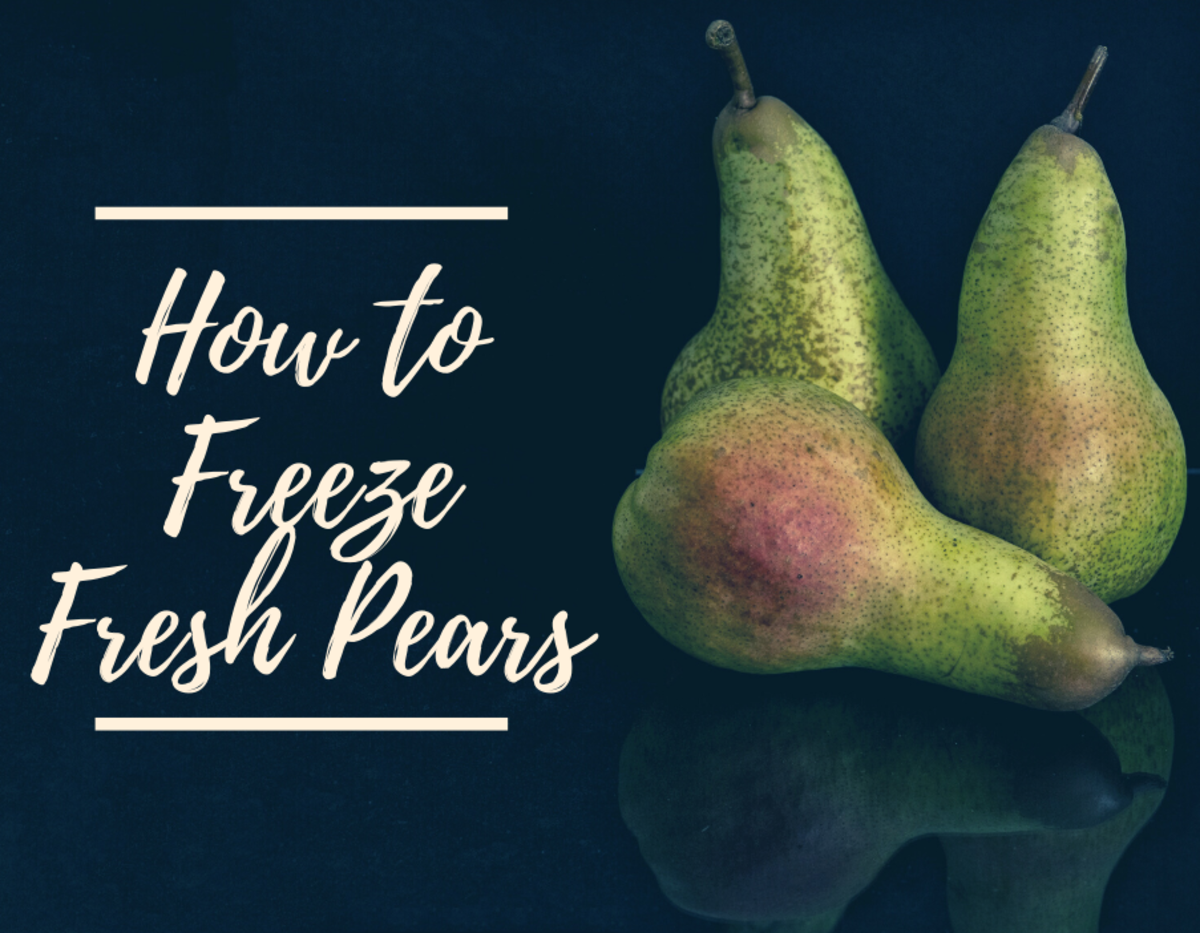 Freezing pears is a great way to preserve them so that they last a long time.