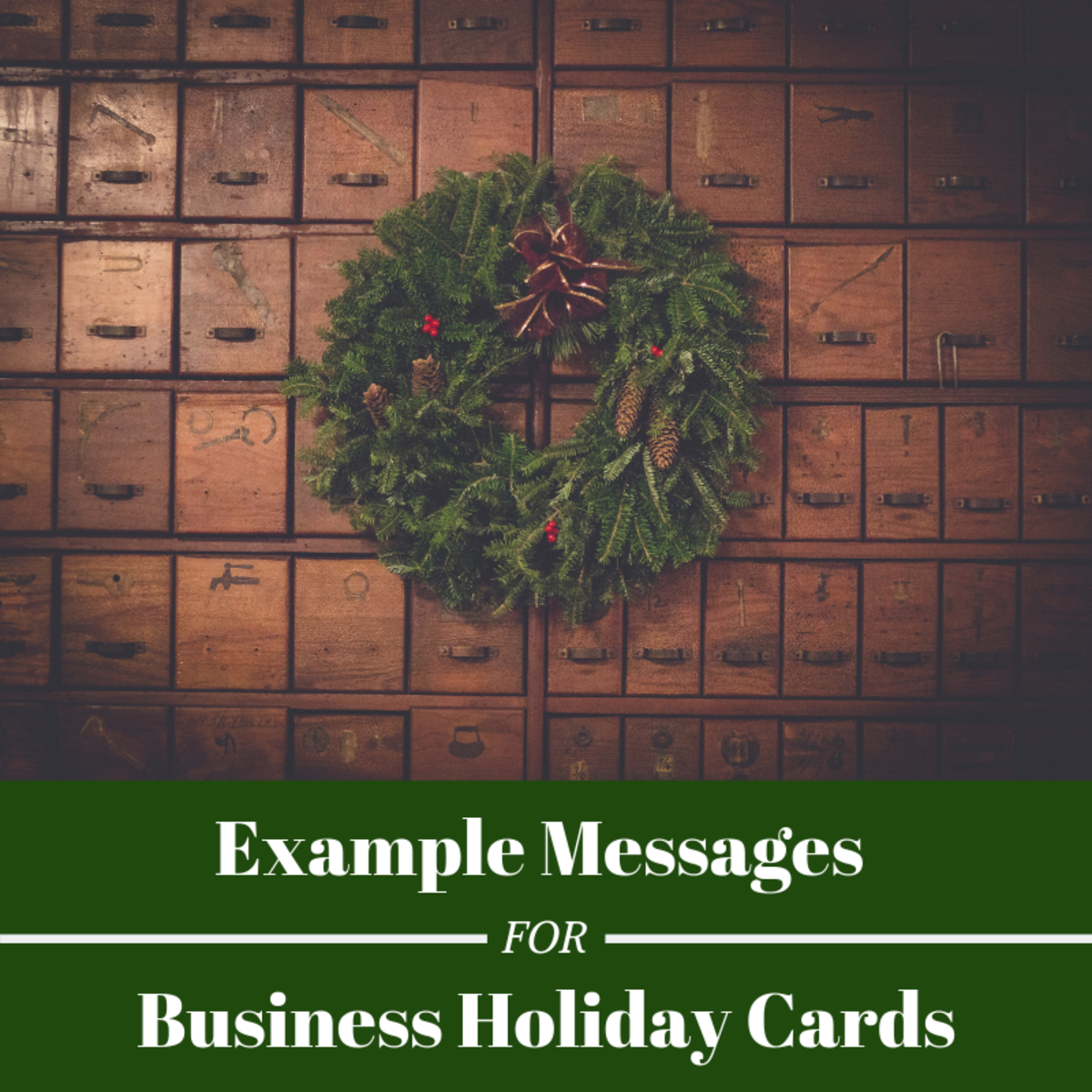 Sending holiday greetings to clients and employees is a great way to remind the community that your business cares.