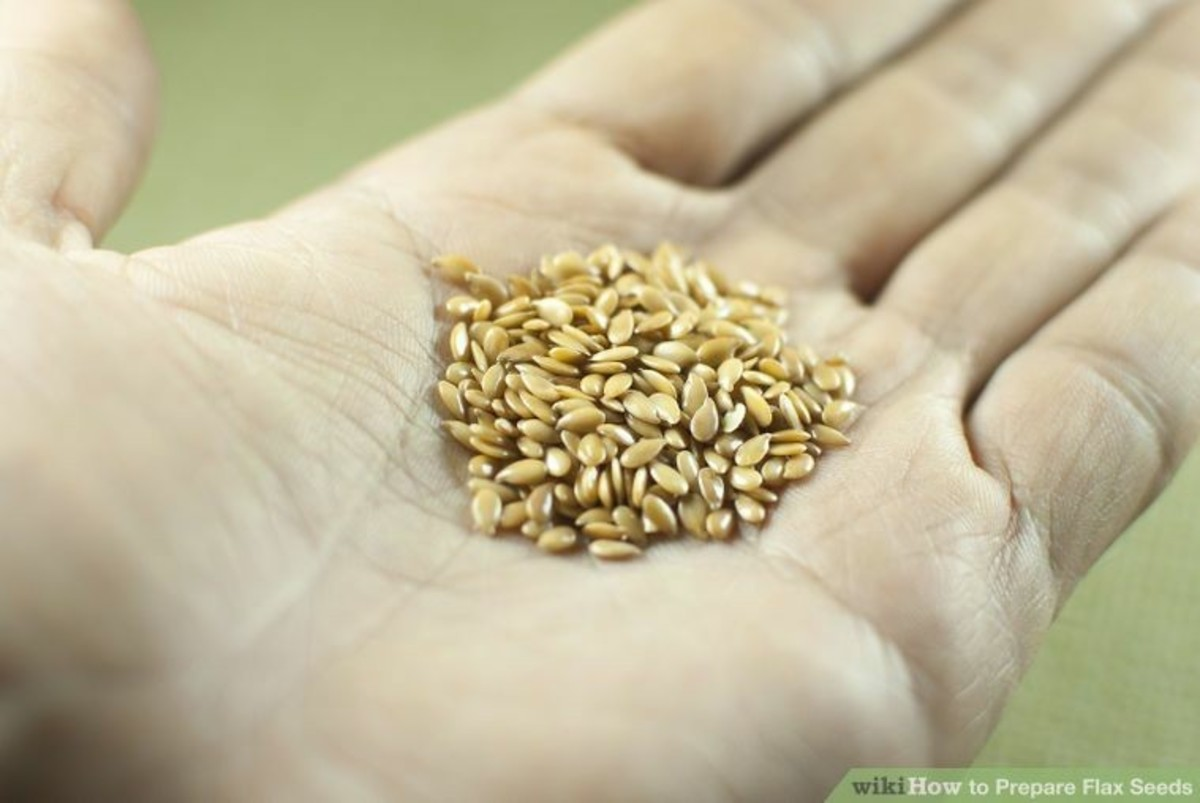 "This small palmful is about the amount of flax seeds you need to make at least a pint of ""oil""."