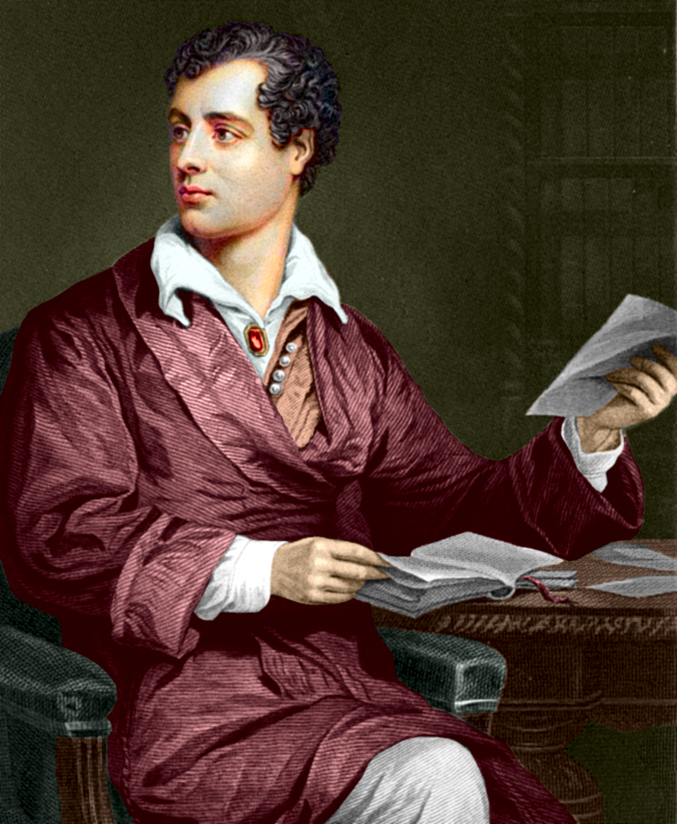 George Gordon Byron, 6th Baron Byron, FRS By Unknown, coloured by uploader (www.noelcollection.org) [Public domain], via Wikimedia Commons