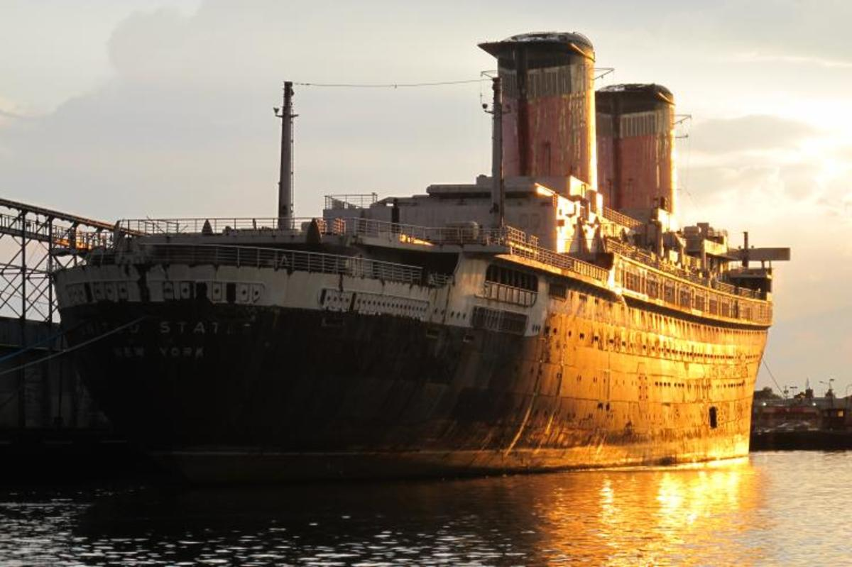 Resultado de imagem para A rusty ship that is docked in Philadelphia is being restored and may become a hotel or a museum.