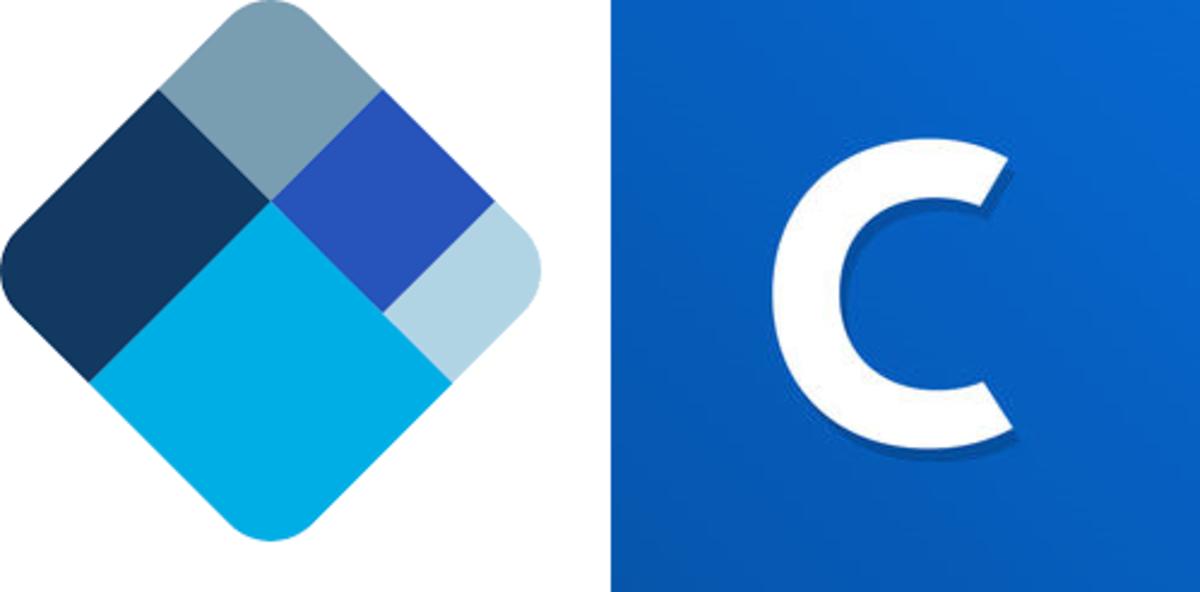 BlockChain Wallet and Coinbase logos