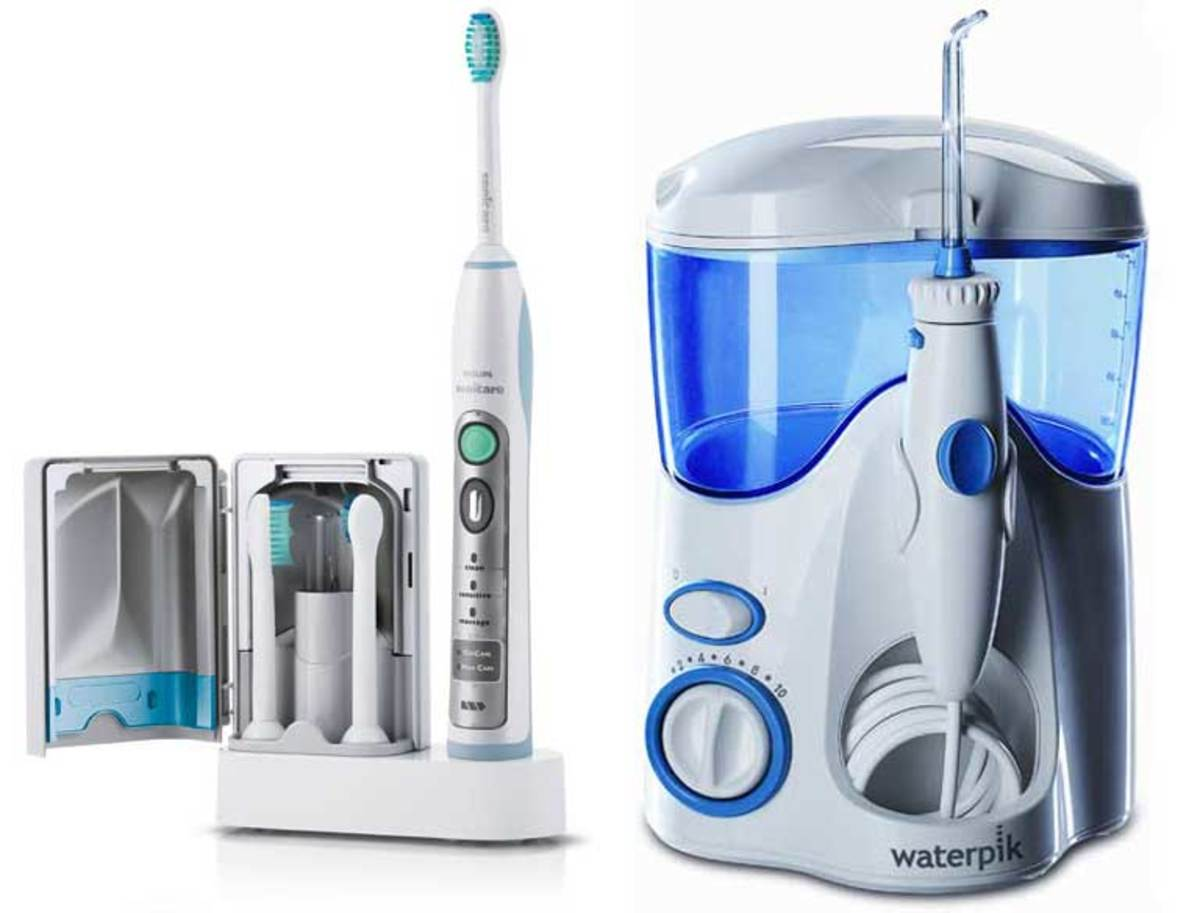 Sonic Toothbrush (left) and Water Flosser