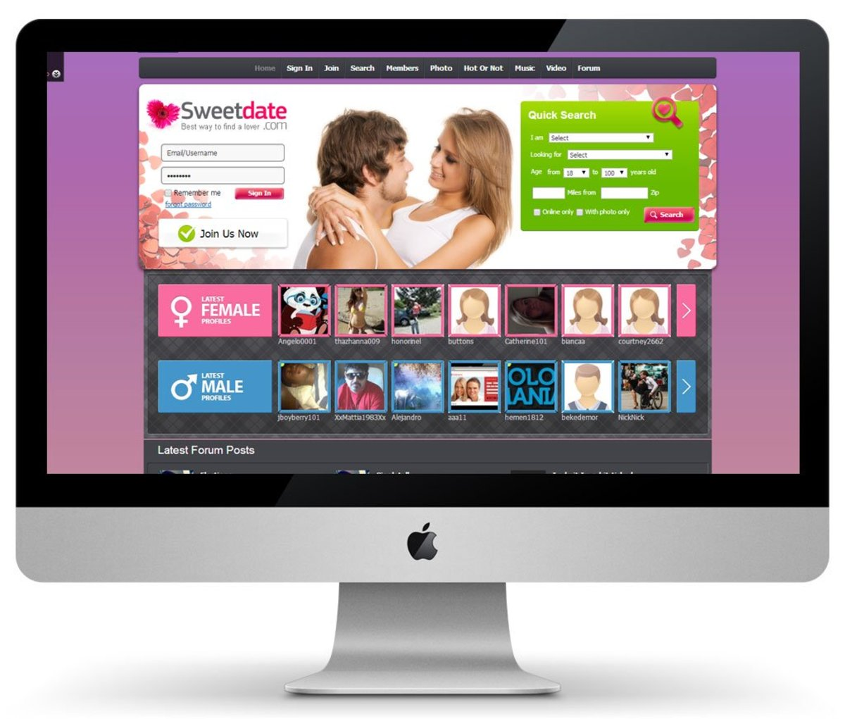 building a dating website software