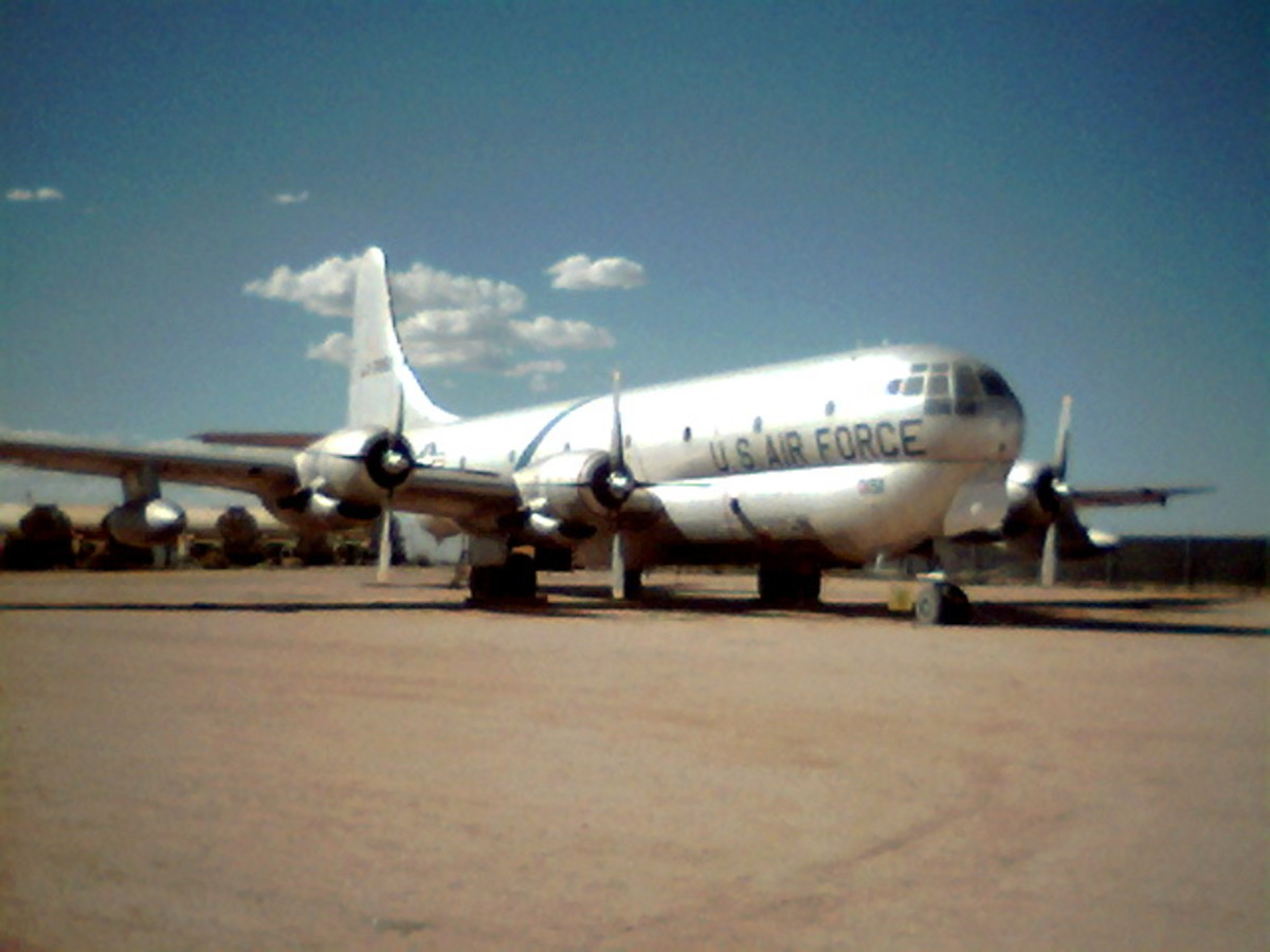 Military Reserves and National Guard offer part-time opportunities (National Guard KC-97 Air tanker at the PIma Air and Space Museum, Tucson, AZ)