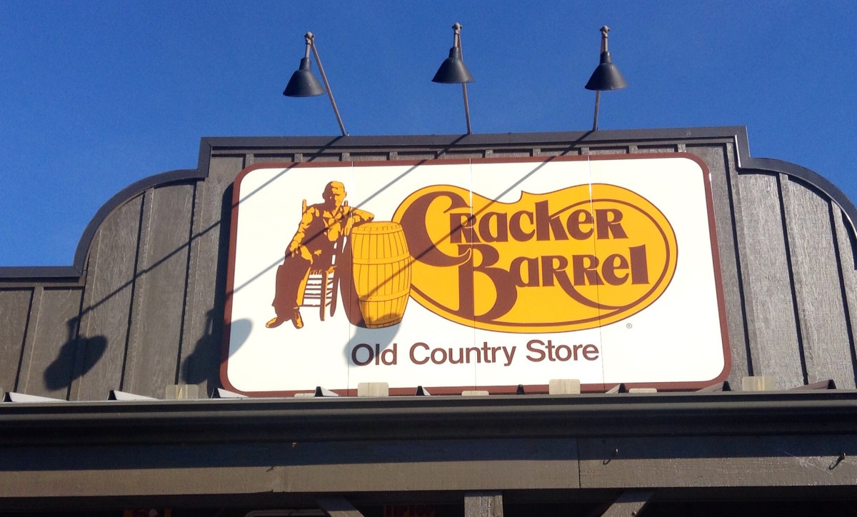 Cracker Barrel is a popular road trip stop chain of restaurants.