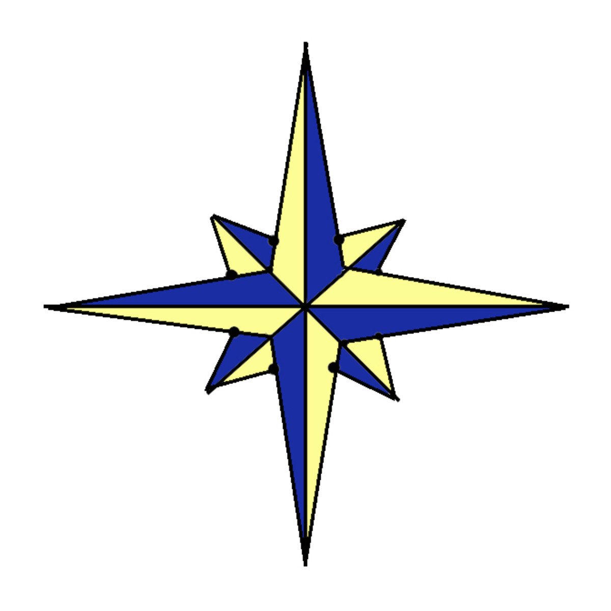 How to Paint a Compass Rose