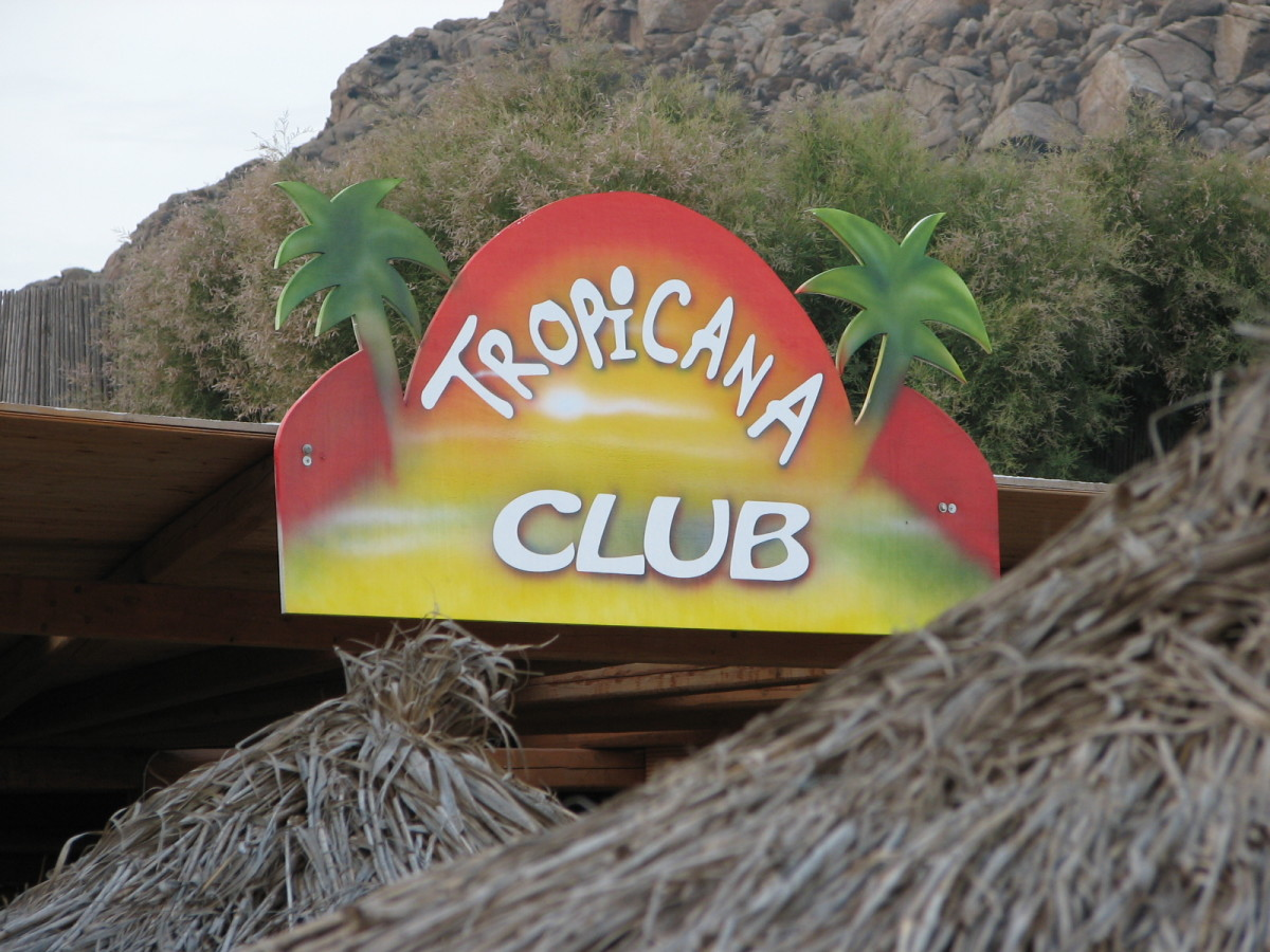 Home of the Devil's Tongue Cocktail, Club Tropicana, Paradise Beach, Mykonos