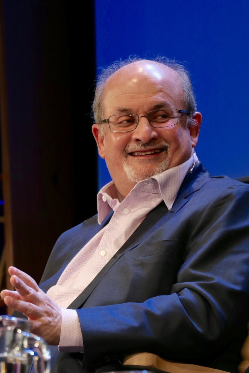 Salman Rushdie at the Hay Festival 2016