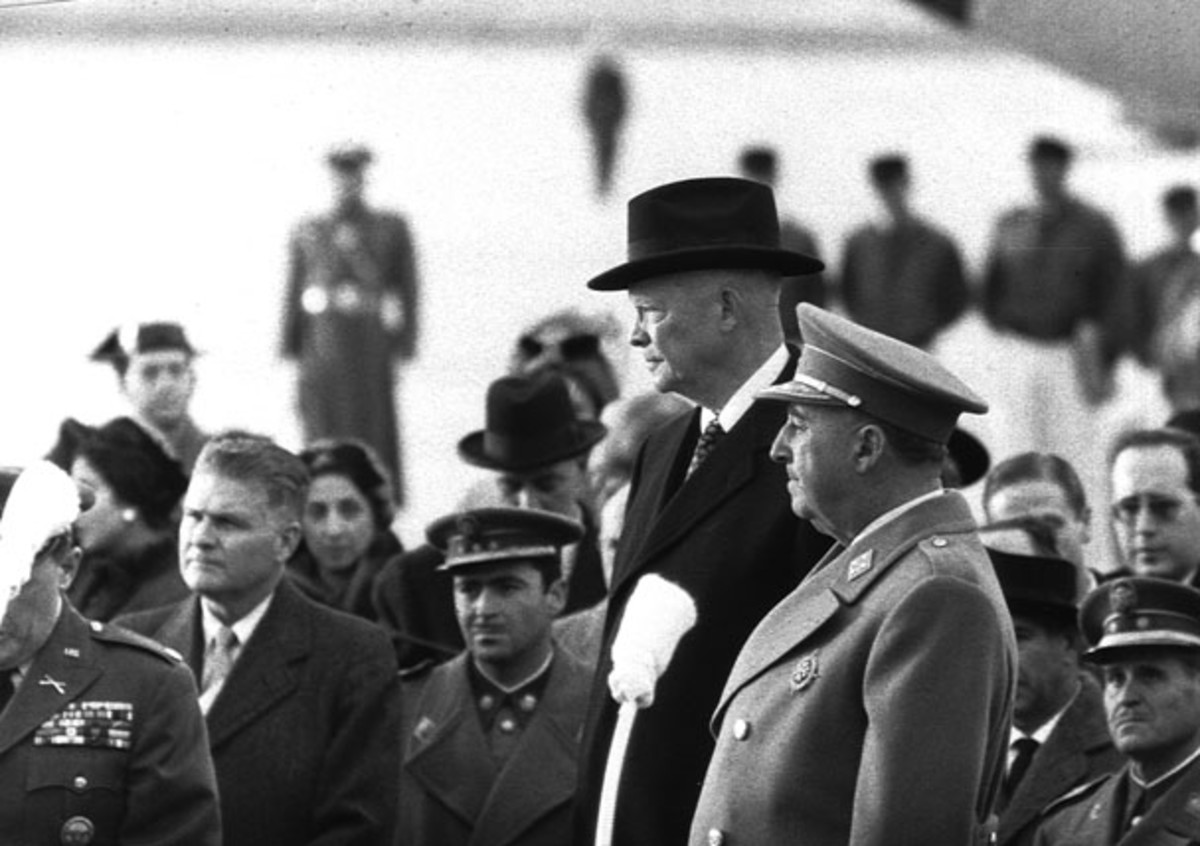 Francisco Franco and Dwight D. Eisenhower in Madrid in 1959
