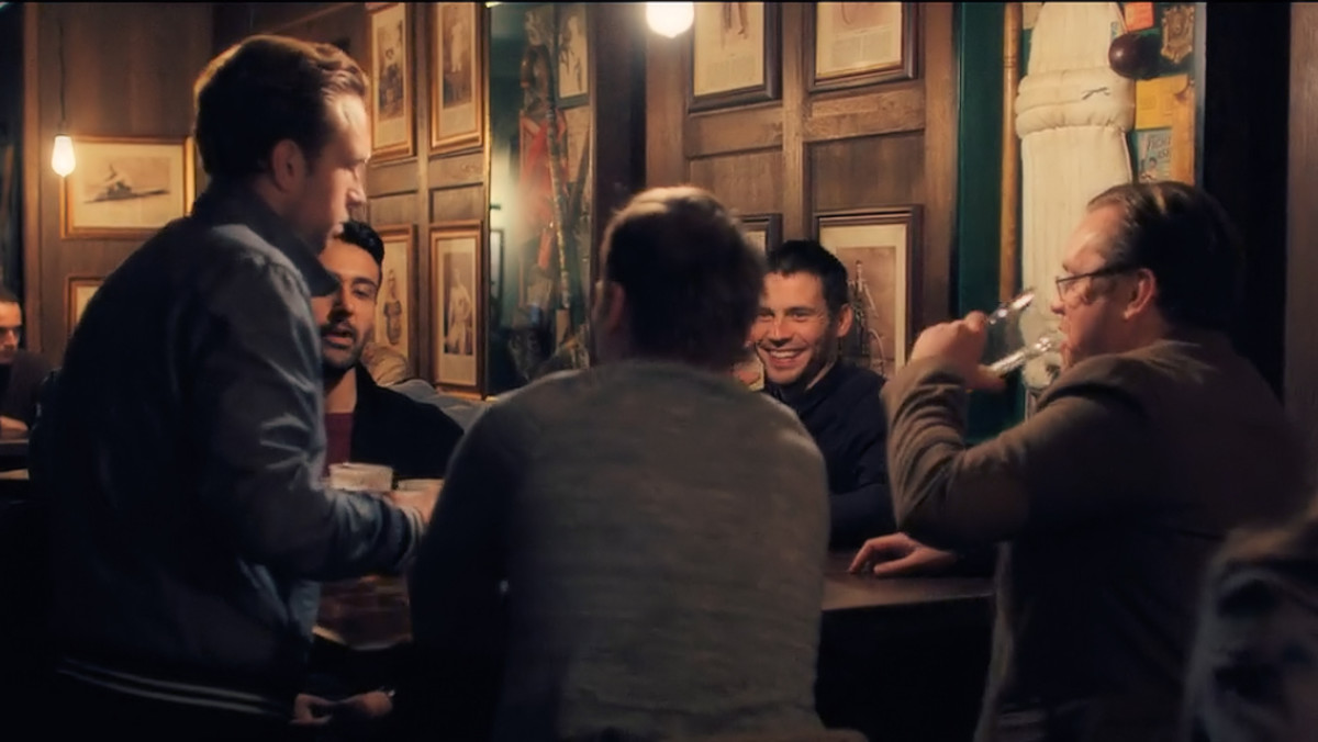 Five English lads gather in a pub to plan a lads holiday.  'The Ritual' (2018), a Netflix Original.