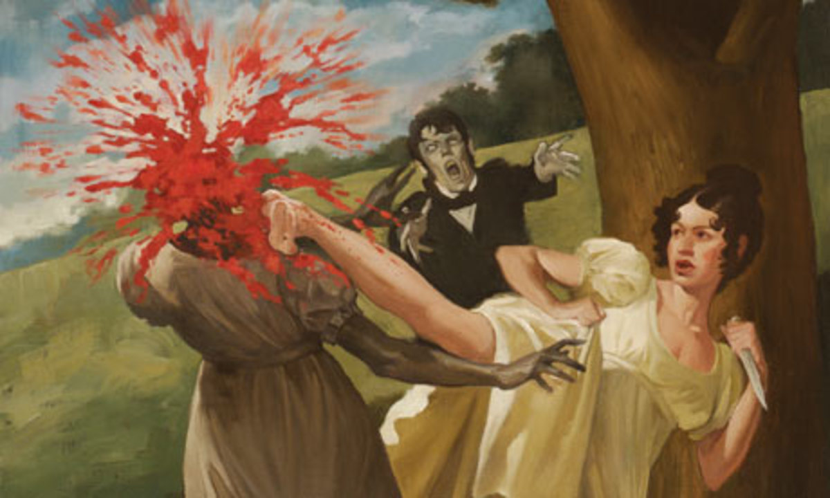 Image Credit: An illustration by Roberto Parada from the deluxe gift edition of Pride and Prejudice and Zombies.  Linked from:http://www.guardian.co.uk/books/2009/dec/06/pride-prejudice-zombies-grahame-smith