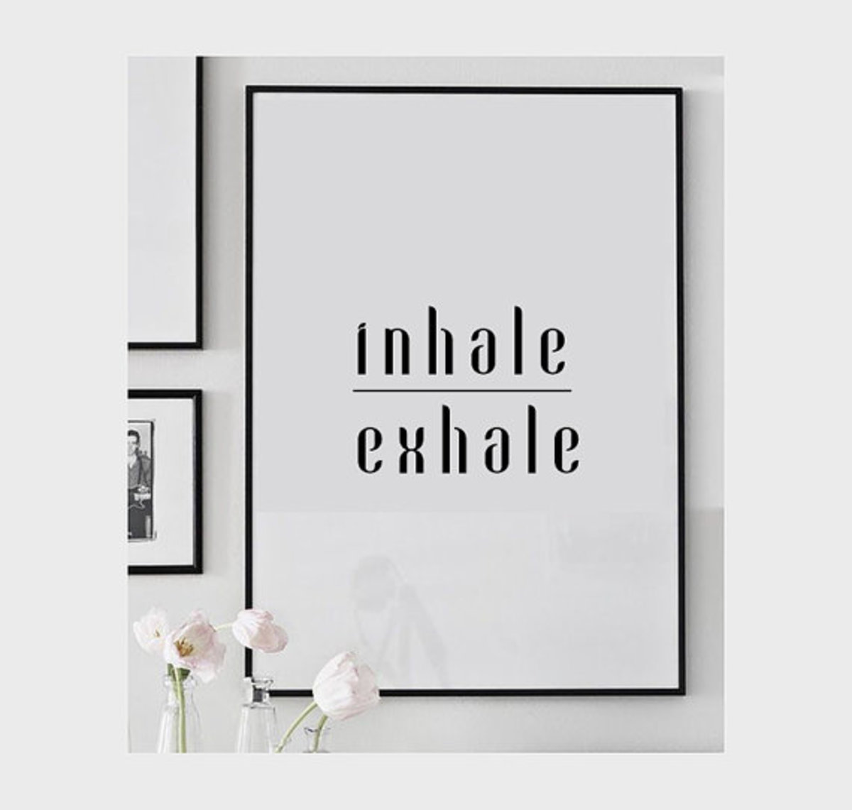 Deep breathing: inhale, exhale.