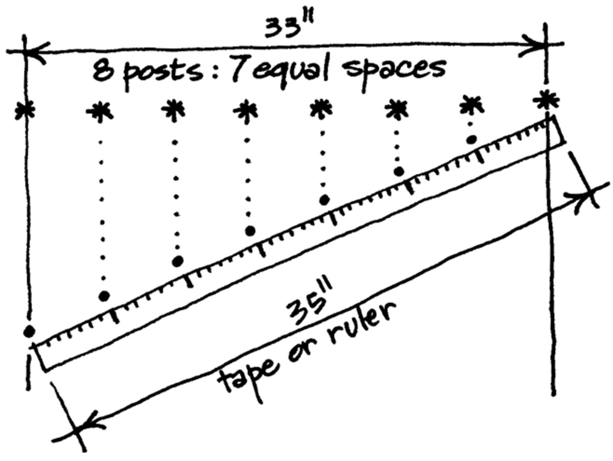 Learn the easiest method to measure equal spacings. Use the example in this image as you read.