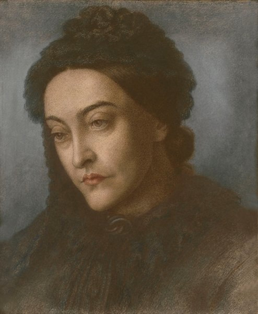 A Painting of Christina Rossetti by her brother Dante Gabriel Rossetti(1877)  [Public domain], via Wikimedia Commons