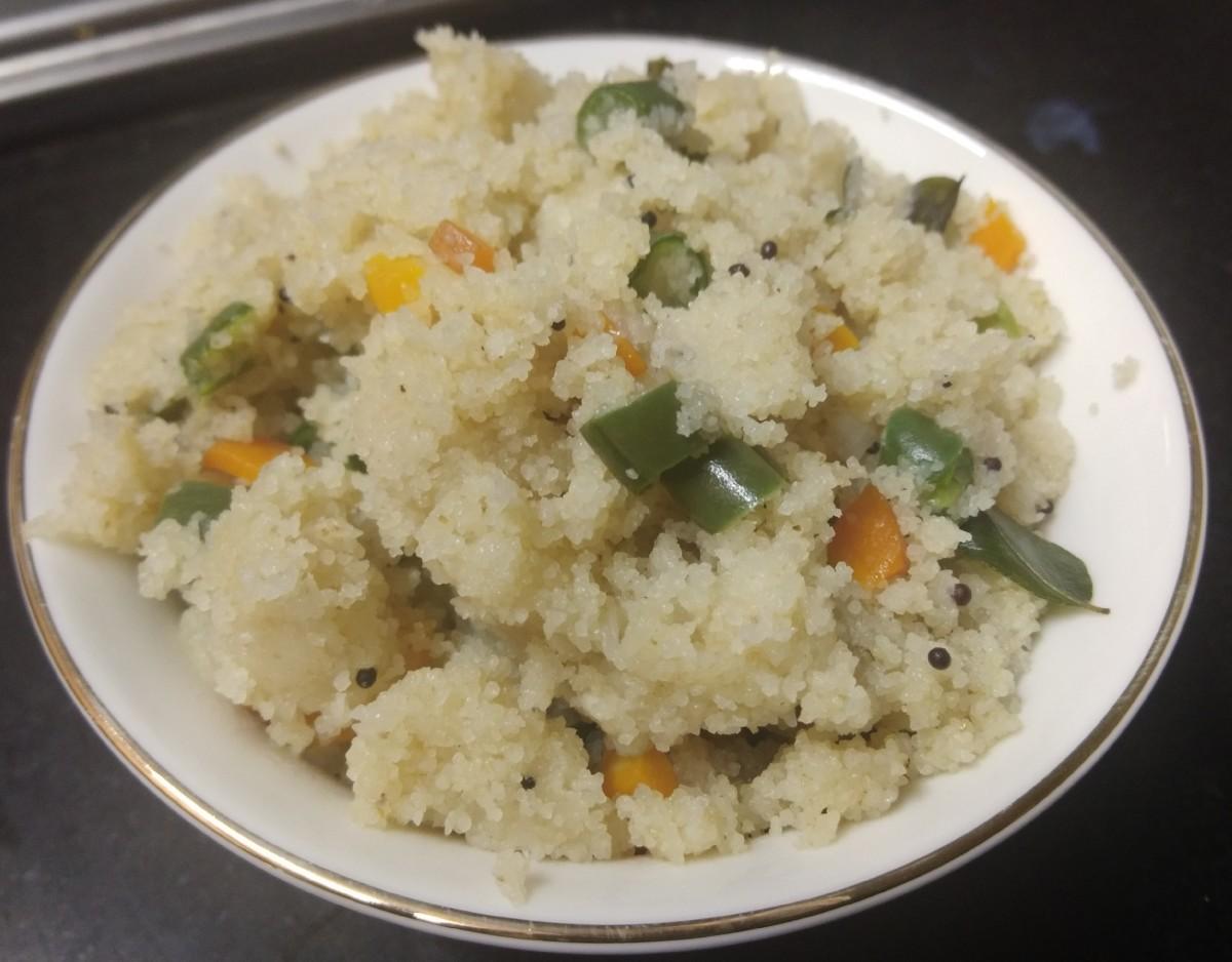 Vegetable Rava Upma