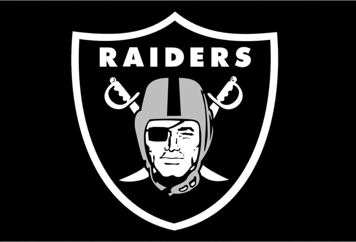 The Oakland Raiders logo.