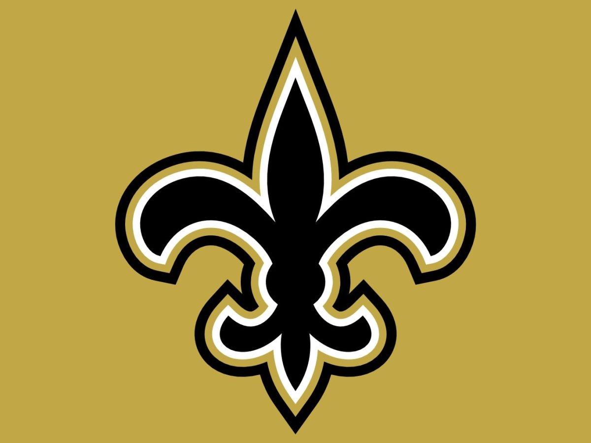 The New Orleans Saints logo.