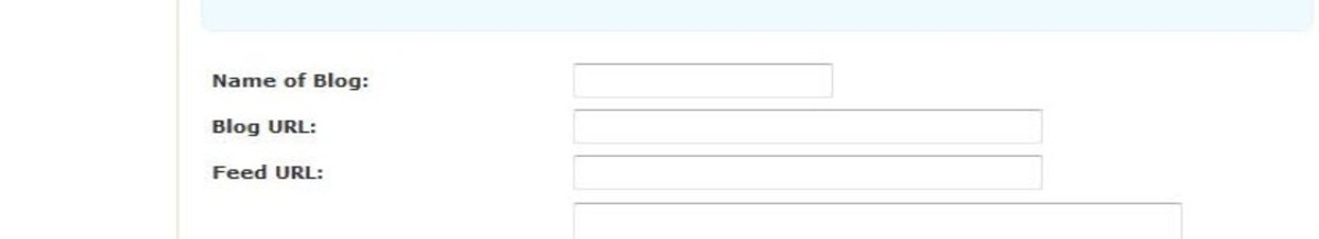 This is what you'll see: an annoying form requesting an RSS feed URL.