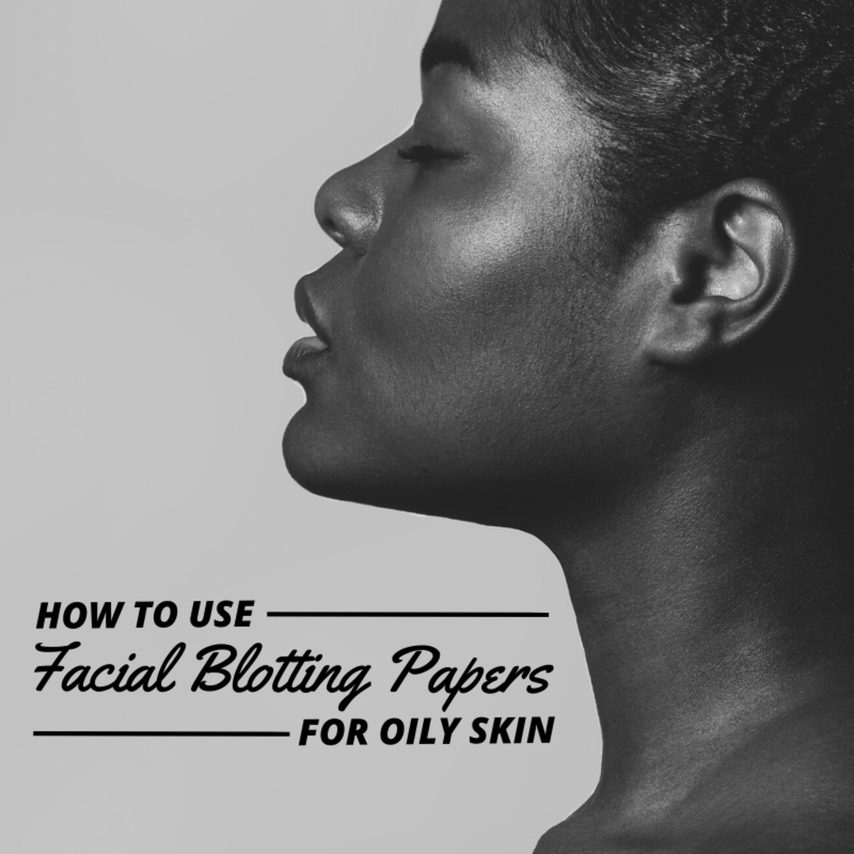 Facial blotting papers allow you to remove excess oil from your face without messing with your makeup.