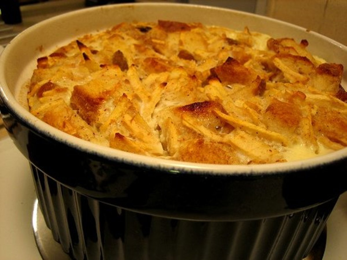 Bread pudding makes a tasty treat for breakfast now and then.