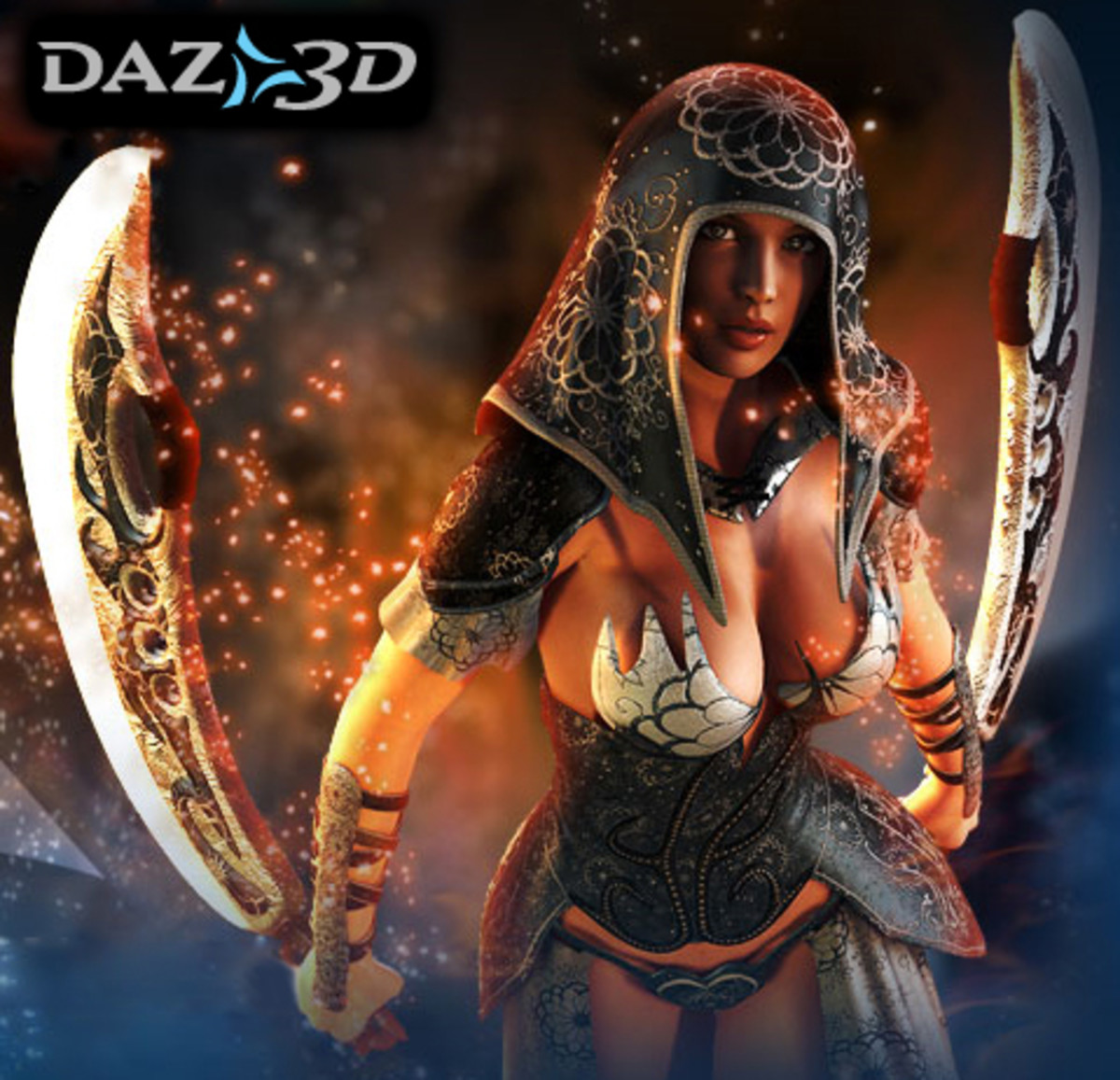 DAZ Studio is only one of several 3D rendering programs available. Poser is another popular application for characters and Bryce and Carrara can be used for landscapes.